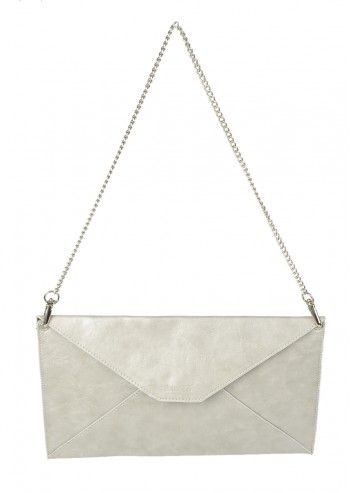 Abbacino, Cocktail Pearl Gray Clutch