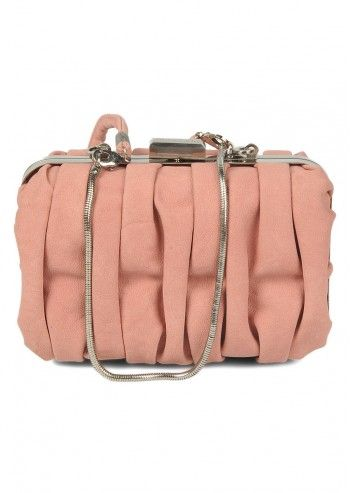 Abbacino, Crinkled Pale Pink Small Bag