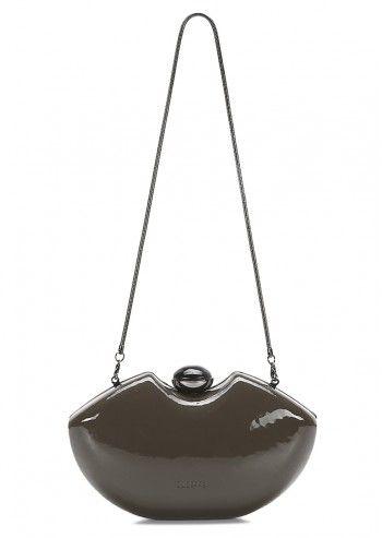 Abbacino, Tres Jauli Gray Patent Leather Bag