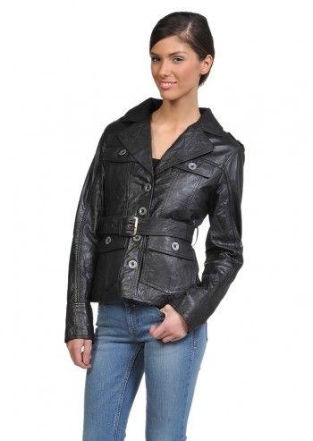Tom Tailor, Woman Lois Black Leather Jacket