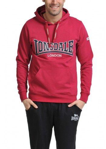 Lonsdale, Man Raspberry Red Cassabian Hoodie