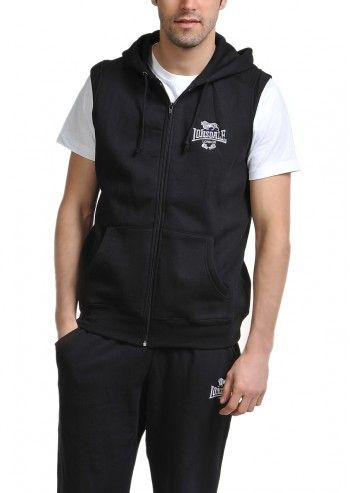 Lonsdale, Man Club Logo Black Hooded Vest