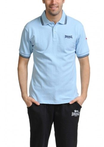 Lonsdale, Man Loxley Sky Blue Polo Slim Fit T-shirt