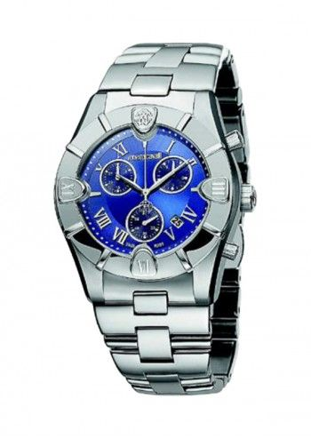 Roberto Cavalli, Woman Diamond Chronograph Blue Dial Watch