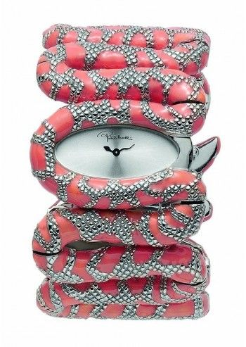 Roberto Cavalli, Woman Cleopatra Pink&Silver Watch