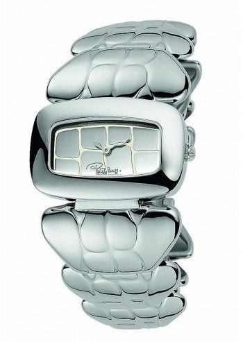 Roberto Cavalli, Woman Silvery Crocodile Watch