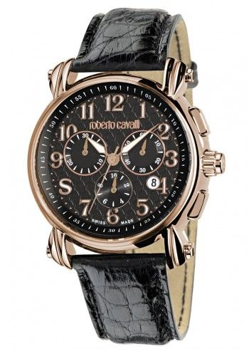 Roberto Cavalli, Unisex Black Celebration Watch