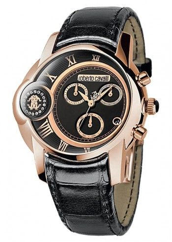 Roberto Cavalli, Man Arthur Black&Cooper Chronograph Watch
