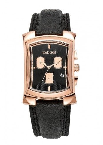 Roberto Cavalli, Unisex Surreal Cronograph Black Watch