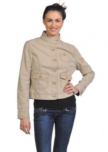 Converse, Woman Vintage Beige Jacket