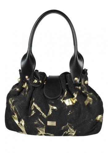 Carla Rossini, Alessia Black Suede Bag