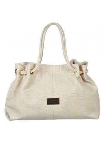 Carla Rossini, Francesca Beige Leather Bag
