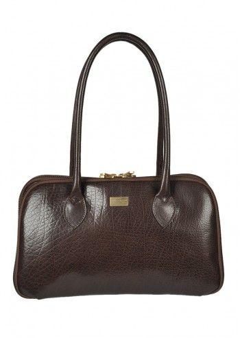 Carla Rossini, Helene Brown Leather Bag