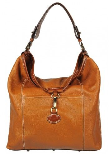Carla Rossini, Viviana Cinnnamon Brown Leather Handbag