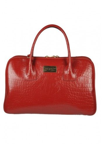 Carla Rossini, Annalisa Dark Red Leather Handbag