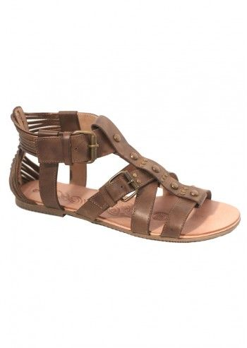 Red Hot, Woman Roman Brown Sandals