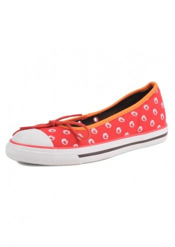 Converse, Woman Red New Hampshire Flats
