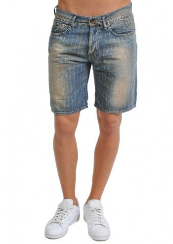 Gas, Man Sam Blue Navy Stripes Short Pants