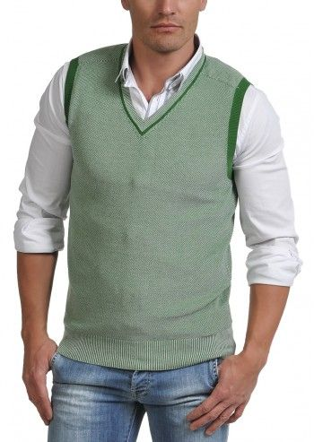 Gas, Man Zigo Green Pepite Vest