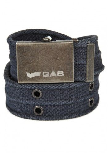 Gas, Man Spray Navy Textile Belt