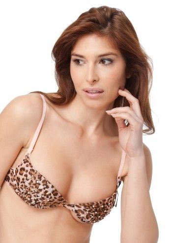Guess by Marciano, Beige&Brown Animal Print Bra