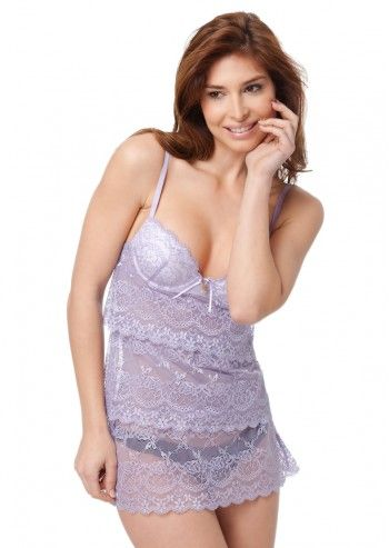 Guess by Marciano, Cat On A Hot Tin Roof Dusty Mauve Babydoll