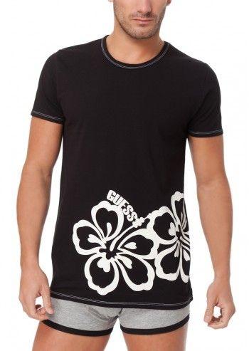 Guess, Man Mad Love Black T-shirt