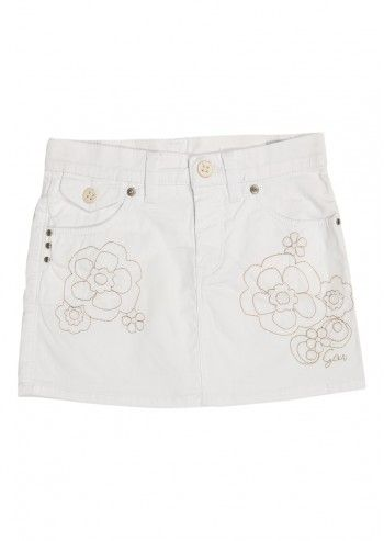 Gas, Girls Arrieta White Skirt