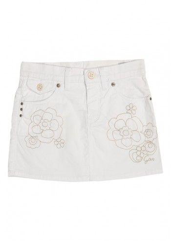 Gas, Girls Arrieta White Skirt