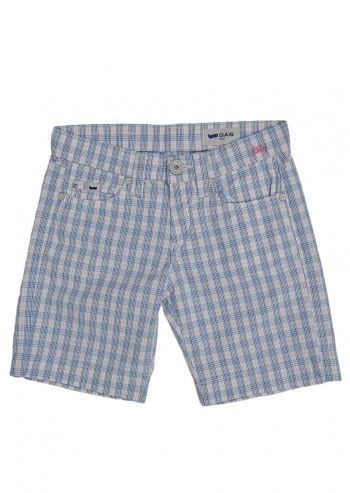 Gas, Girls Kessy White Plaid Shorts