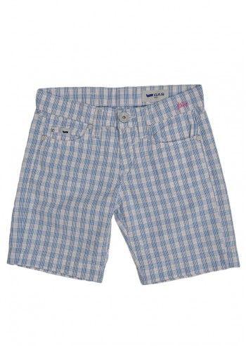 Gas, Girls Kessy White Plaid Shorts