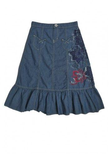 Gas, Girls Katherine Light Blue Skirt