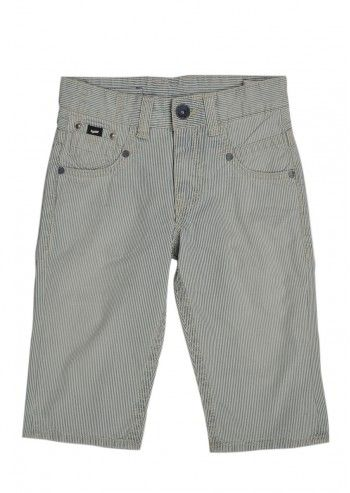 Gas, Boys On-Line Ivory&Pastel Blue Striped Pants