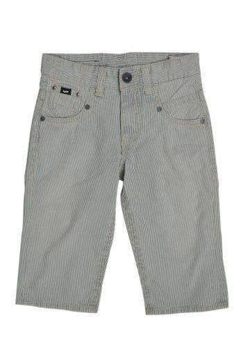 Gas, Boys On-Line Ivory&Pastel Blue Striped Pants