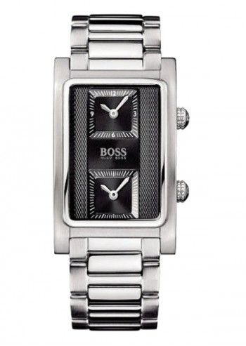 Hugo Boss, Man Dual Time Silvery Watch