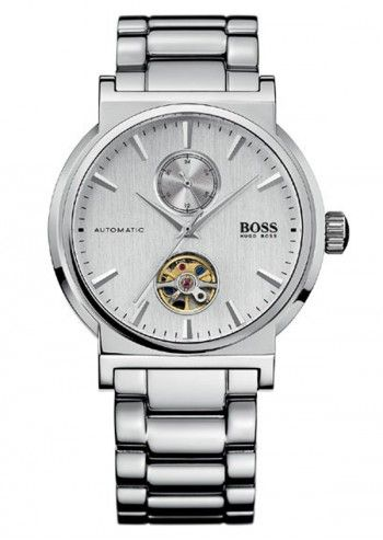 Hugo Boss, Man Exhilaration Silvery Automatic Round Watch