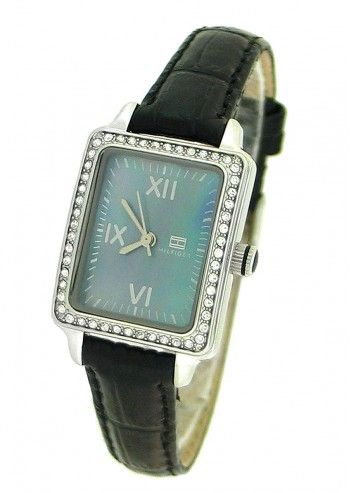 Tommy Hilfiger, Woman Ferndale Black Leather Watch