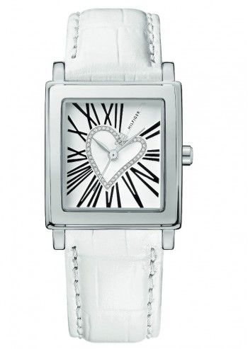 Tommy Hilfiger, Woman Sweetheart White Leather Watch