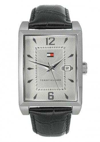 Tommy Hilfiger, Man Gateway Black Leather Watch