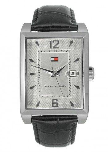 Tommy Hilfiger, Man Gateway Black Leather Watch