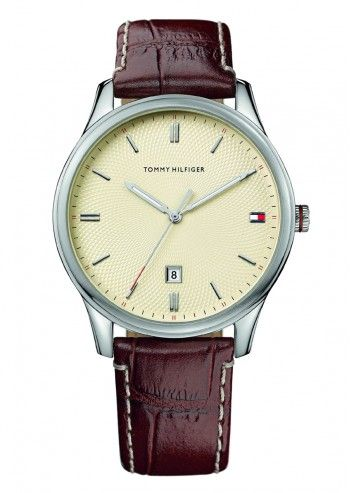 Tommy Hilfiger, Man Sutter Dark Brown Leather Watch