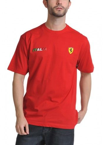 Ferrari, Man Italy Race Fine Red T-shirt