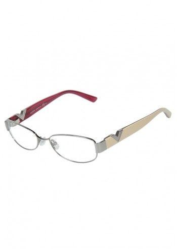 Valentino, Unisex Silvery&Cream Frames