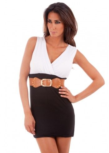 Rue Montmartre, Lea White&Black Dress