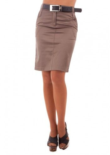 Rue Montmartre, Elodie Taupe Skirt