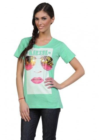 Diesel, Woman Tewax Jade Green T-shirt