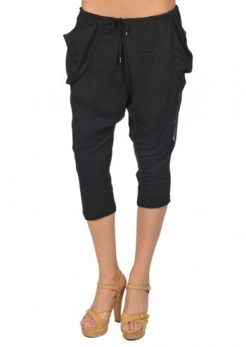 Diesel, Woman Zivy Black Harem Capri Pants
