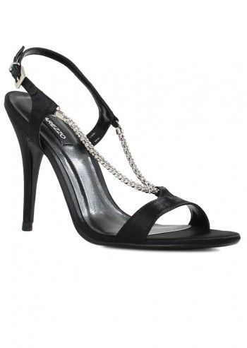 Arezzo, Lorna Black Leather Sandals