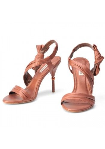 Arezzo, Leather Copper Elegant Sandals