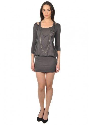 Calvin Klein Jeans, Woman Dark Gray Amy Dress